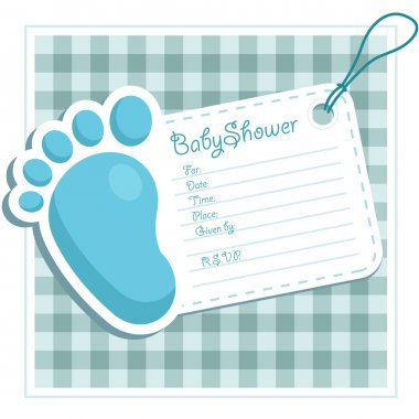 Blue Baby Shower Invitation