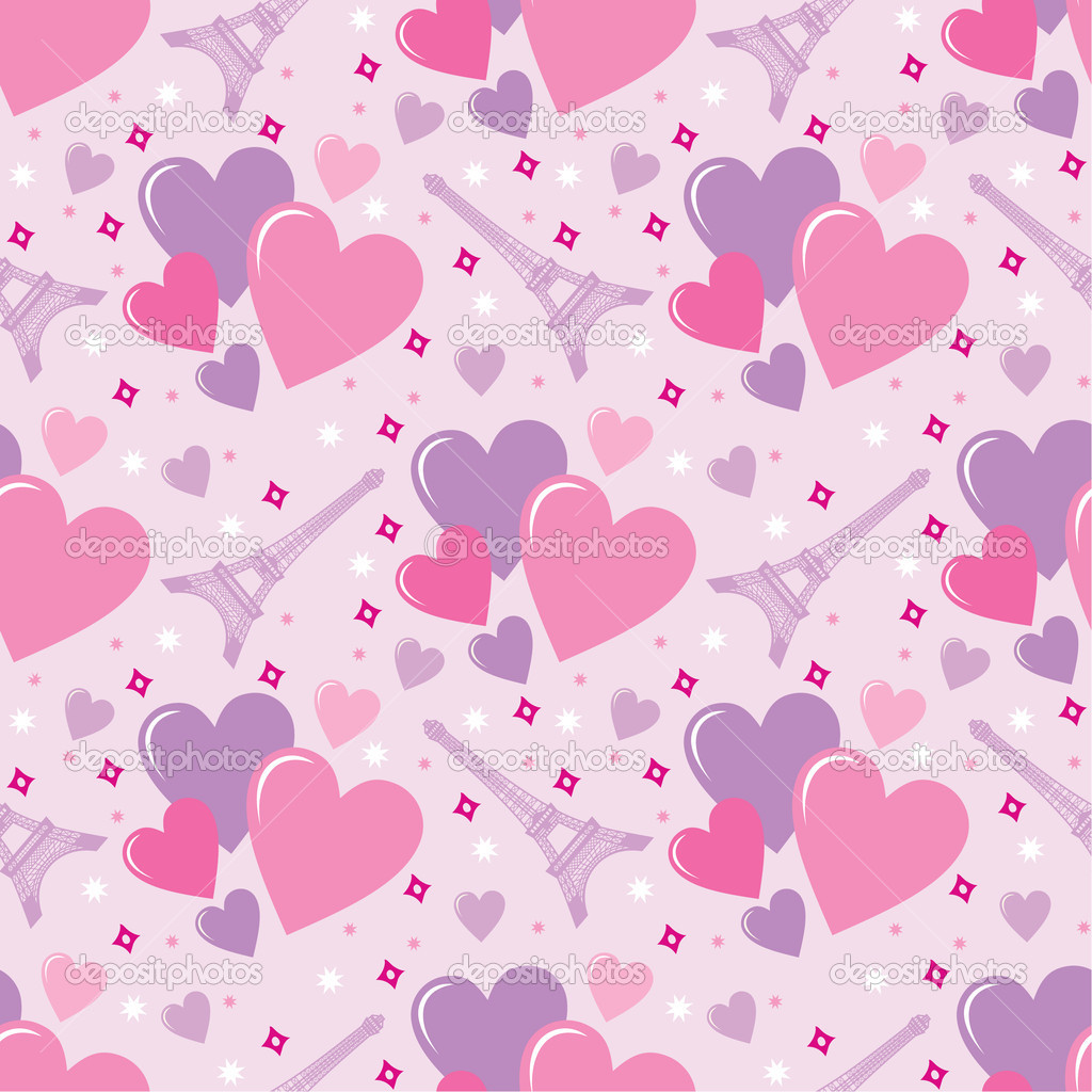 Seamless hearts pattern