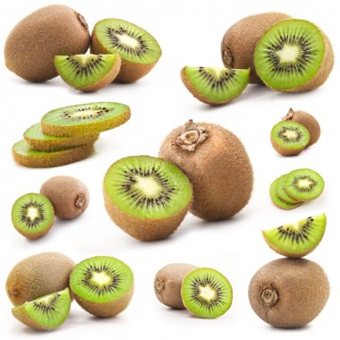 Collection of fresh kiwi