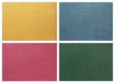 Set of Linen canvas texture