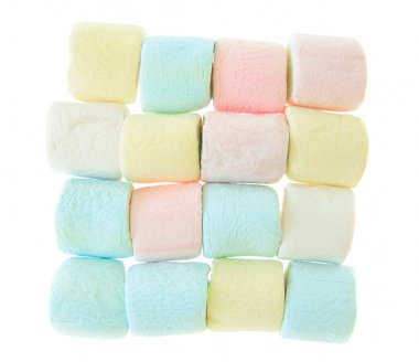 Colorful marshmallow isolated