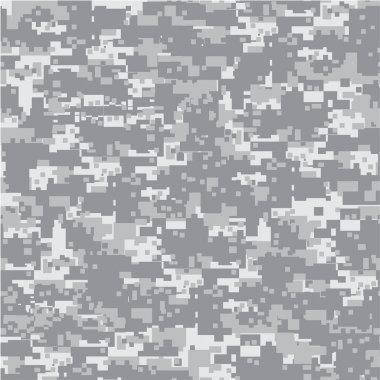 Modern, digital desert camouflage, military seamless pattern. stock vector