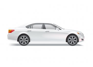 Photo realistic sedan illustration