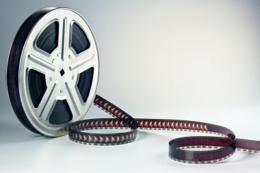 Old motion picture film reel stock vector