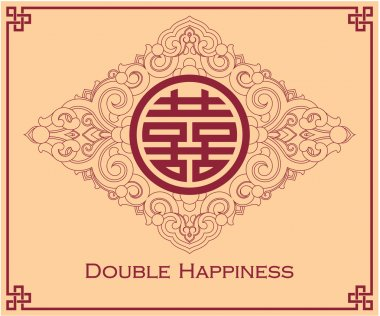 Double Happiness Symbol Design