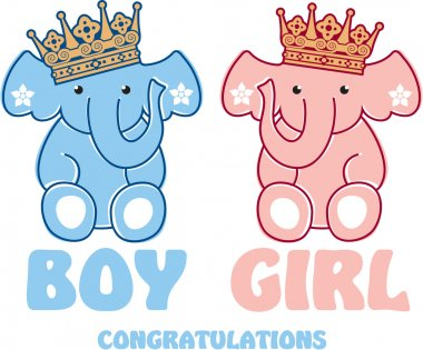 Cute Baby Elephants Including Vector Format clip art vector