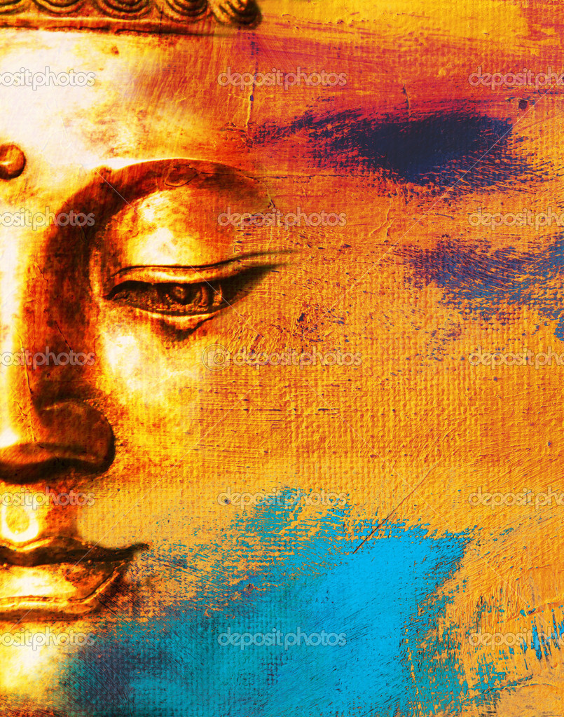 Abstract Buddhist Collage Background - Dream