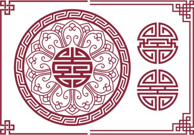 Vector Set of Oriental Chinese Design Elements