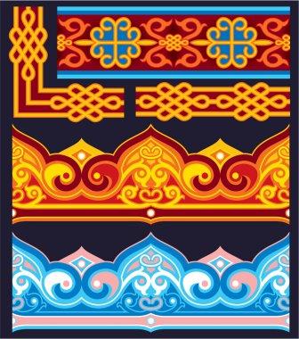 Vector Oriental Seamless Pattern - Border