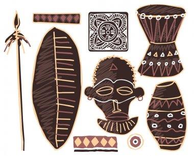 Set of African Elements Illustration