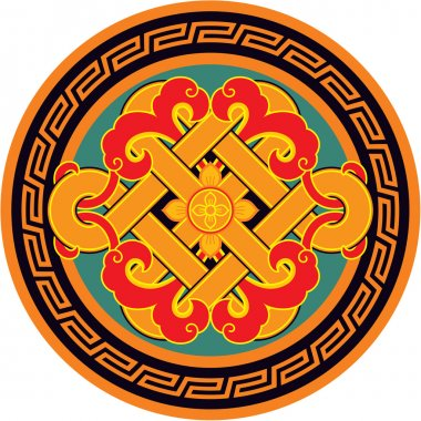Oriental Pattern - Rosette with Knot
