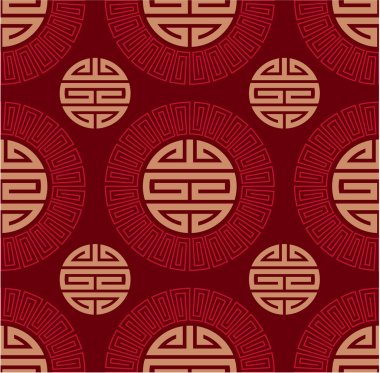 Vector Seamless Oriental Chinese Tile