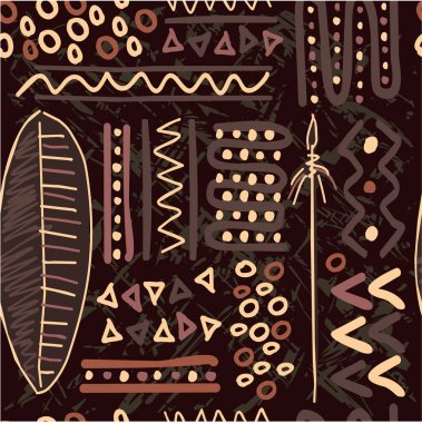 Vector African Seamless Pattern (Background, Wallpaper, Texture, Tile)