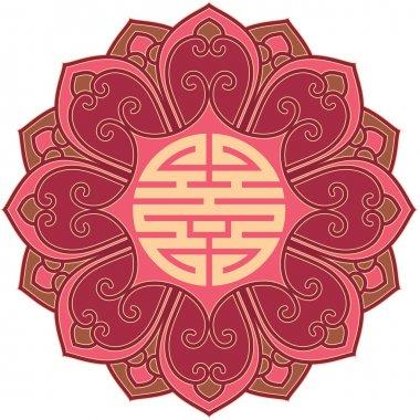 Vector Oriental Flower Pattern