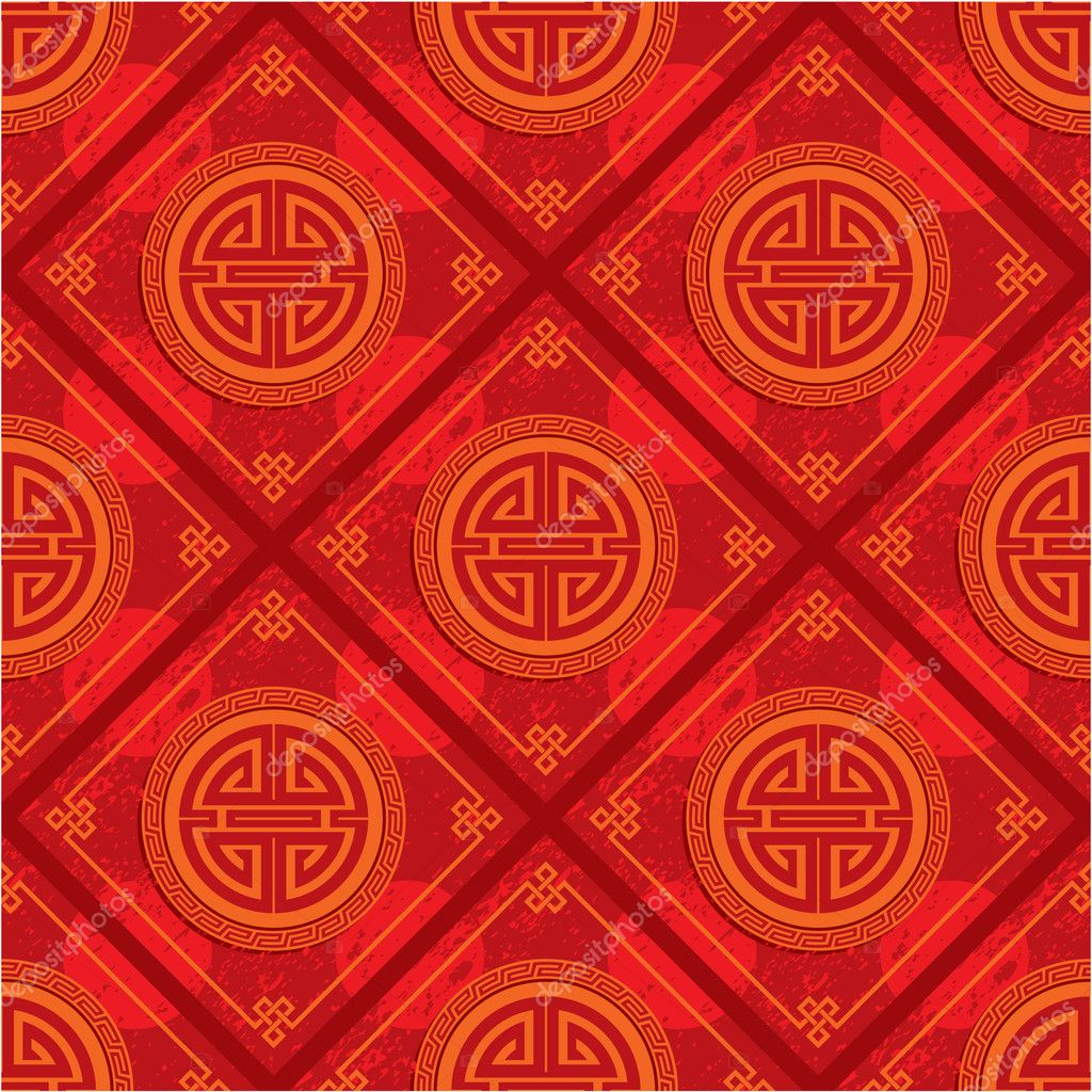 Vector Oriental Chinese Seamless Pattern Background Tile Wallpaper By LeshaBur