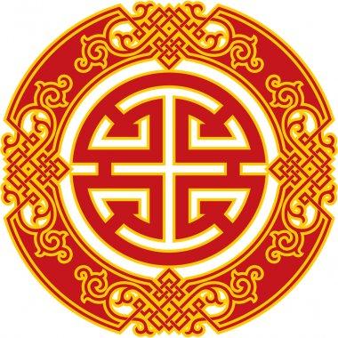 Oriental Pattern - Chinese Career Luck Symbol