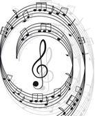 musica. chiave di violino e note per il vostro disegno.