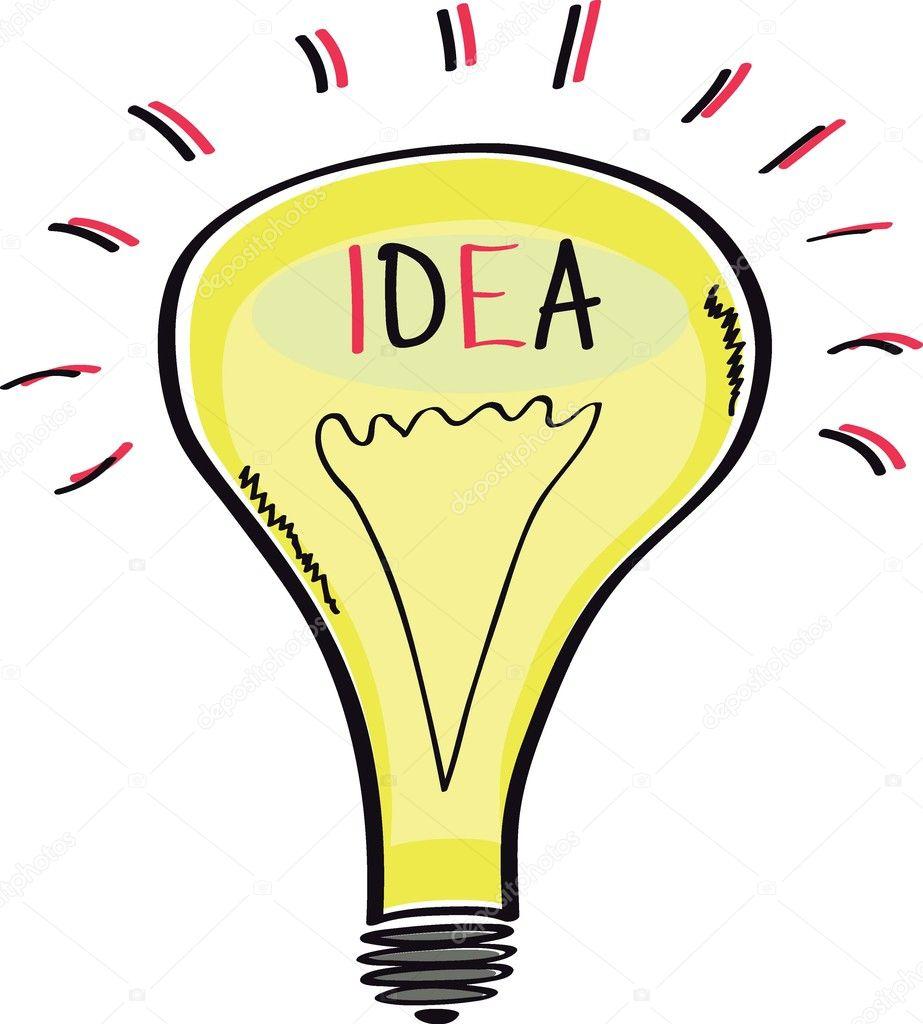 ampoule esquisse de dessin anim id e image vectorielle. Black Bedroom Furniture Sets. Home Design Ideas