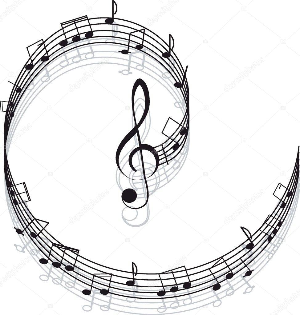 Musica Chiave Di Violino E Note Per Il Vostro Disegno Vettoriali