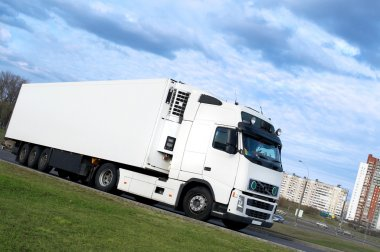Lorry turning - see other trucks in my portfolio