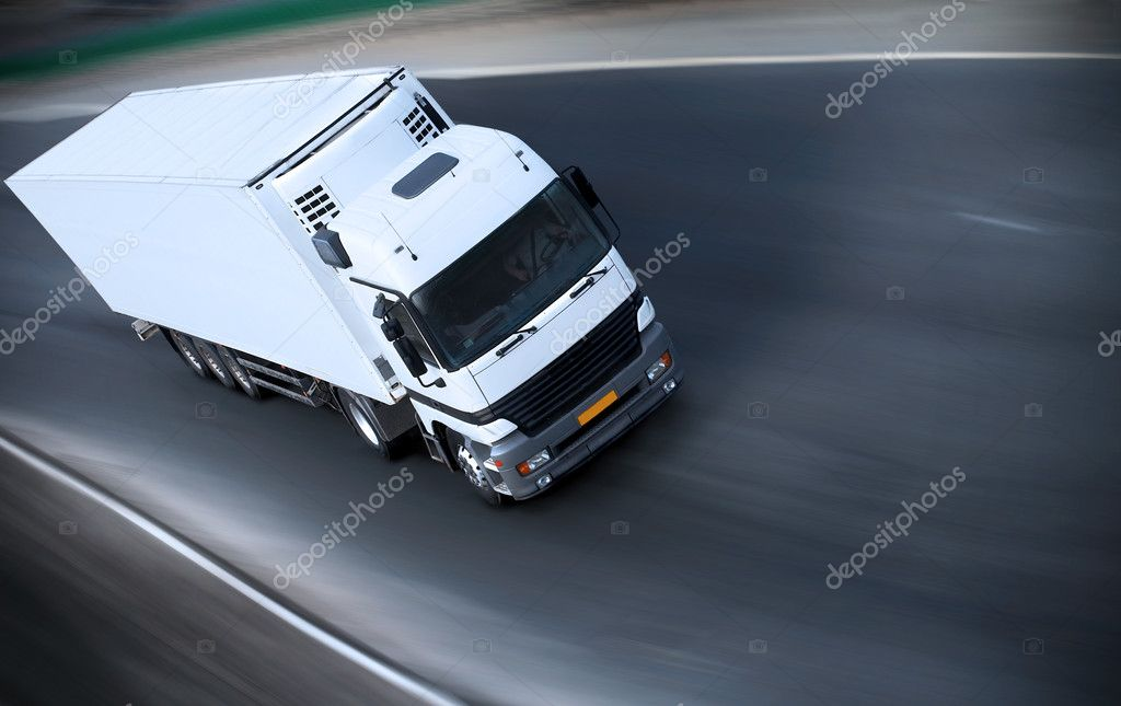 Truck on motorway - see other trucks in my portfolio