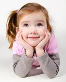 Portrét šťastný usměvavá holčička