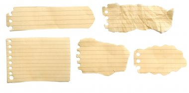 Set Of Brown Torn Papers