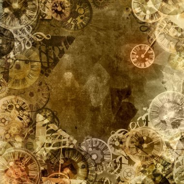 Vintage clocks time theme background