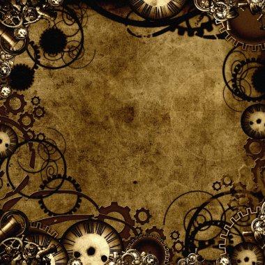 Steampunk background texture