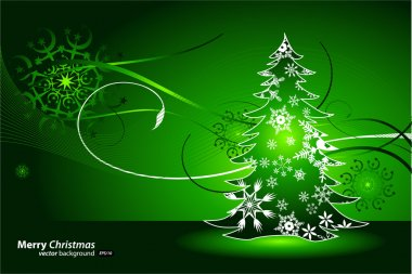 Christmas green background