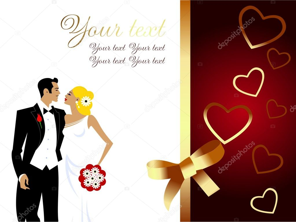 Decent Wedding Postcard — Stock Vector © Marcus55 #9093472