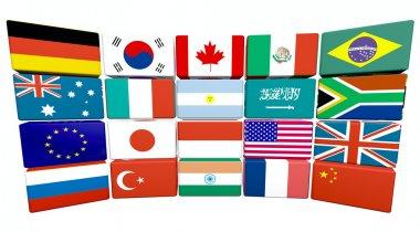 Great twenty flags