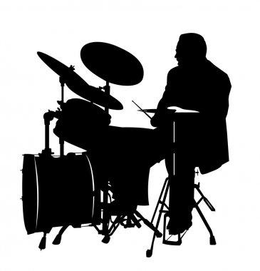 Drummer silhouette