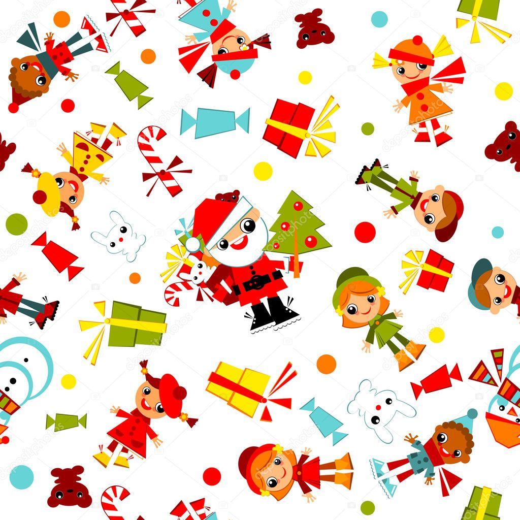 Sfondi Natalizi Per Bambini.Immagini Natale Bambini Sfondi Di Natale Bambini Vettoriali