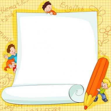 Frames on school kids