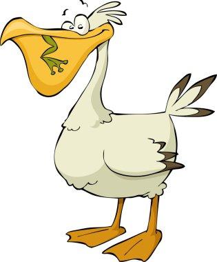 Cartoon pelican