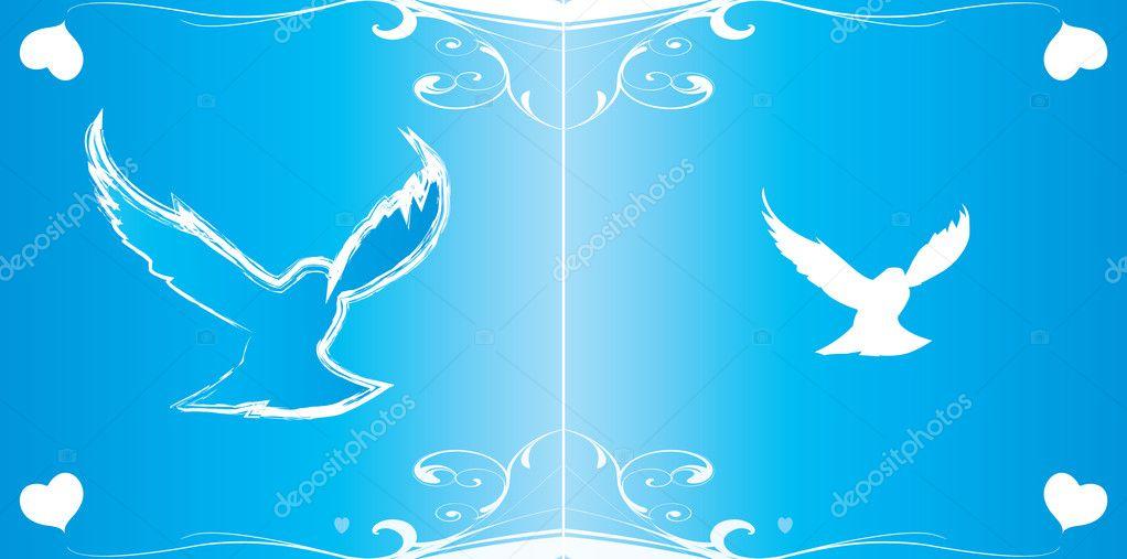 Vector Wedding Invitation Background Stock 8496338