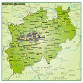 Fotografie Nordrhein-Westfalen-Umgebungskarte-Übersicht