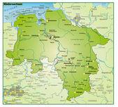 Fotografie Niedersachsen-Umgebungskarte-Übersicht