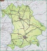 Bundesland Bayern Umgebungskarte gruen