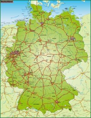 Deutschland und Umgebung bunt