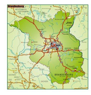 Brandenburg Umgebungskarte bunt