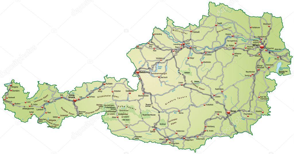 lech ausztria térkép Térkép Ausztria — Stock Vektor © artalis #9032200 lech ausztria térkép