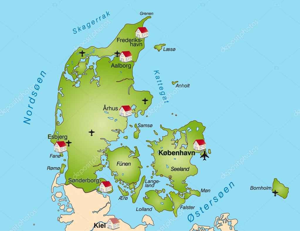 Map of denmark Stock Vector artalis 9051527