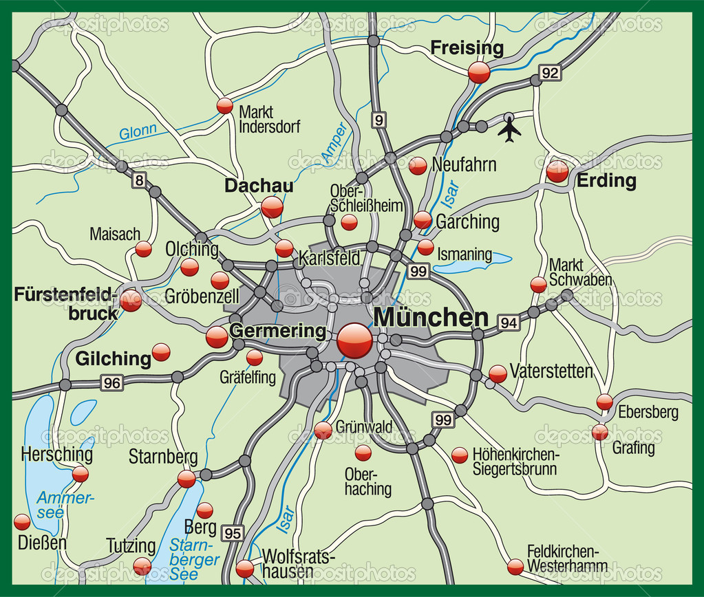 Map of munich Stock Photo artalis 9074707