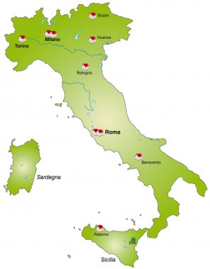 Italy as an Internet Map