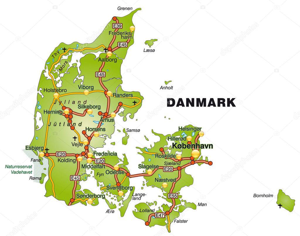 karta över danmark karta över Danmark — Stock Vektor © artalis #9556567 karta över danmark