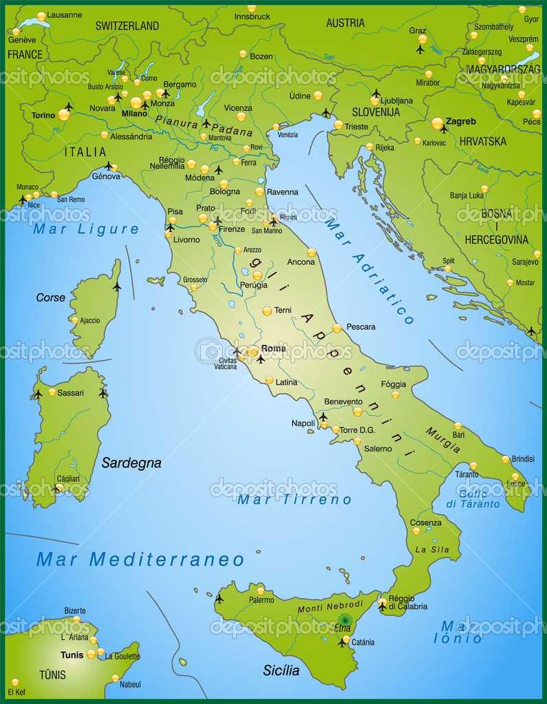 Forli Italy Map.Map Of Italy Stock Vector C Artalis 9556681
