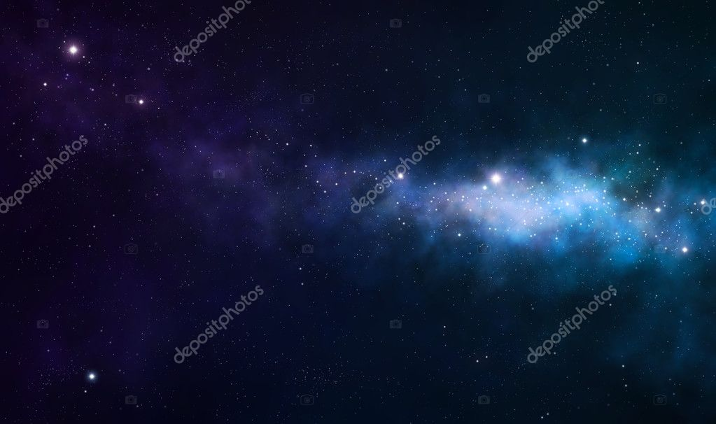 Blue and purple nebula