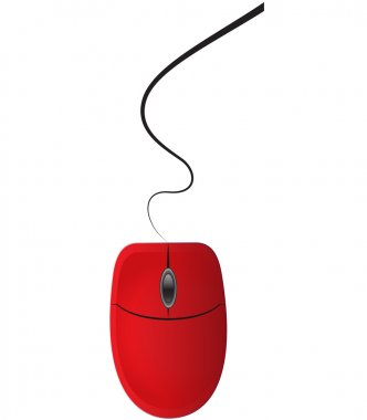 Red computer mouse
